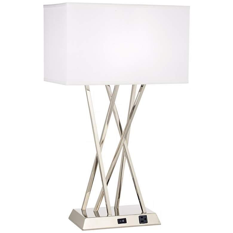 1V490 - Brushed Steel Table Lamp