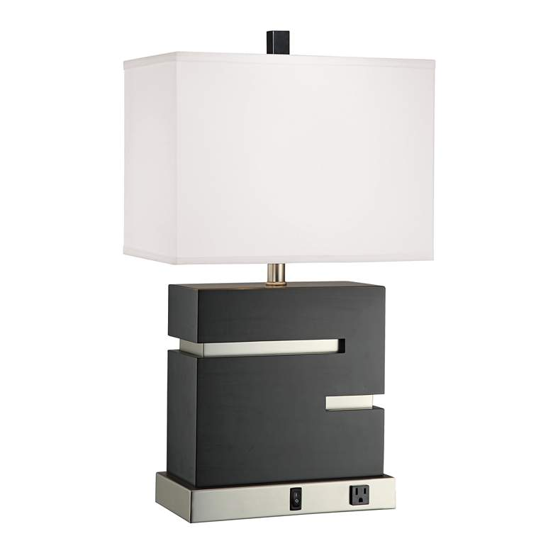 1V539 - Espresso and Brushed Nickel Table Lamp