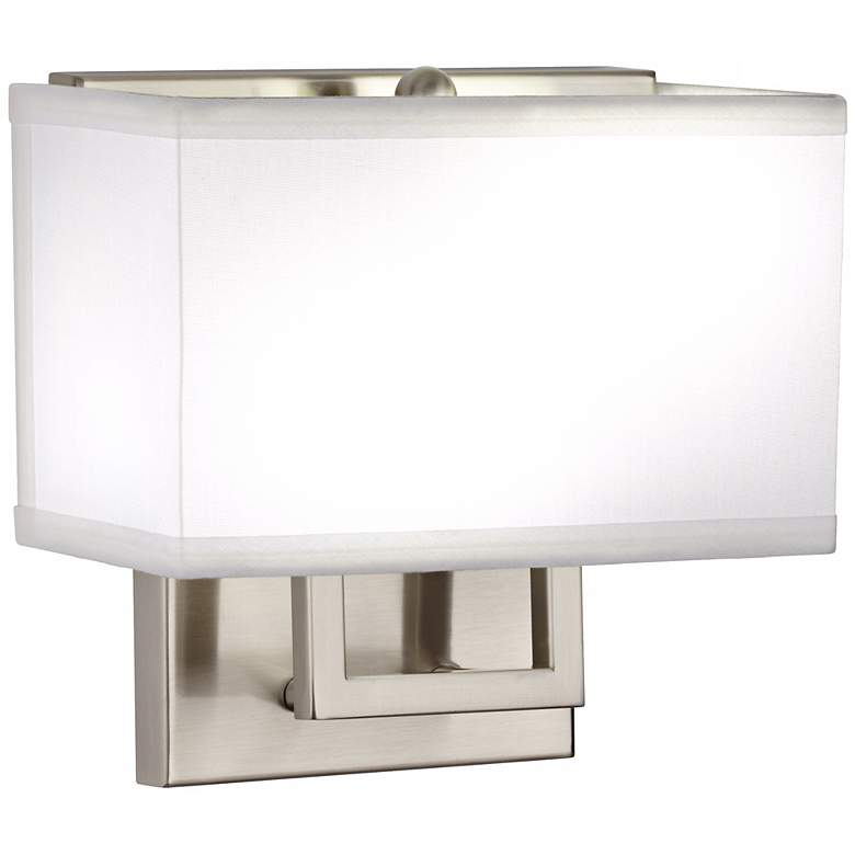 1V581 - Brushed Nickel Rectangular Wall Lamp