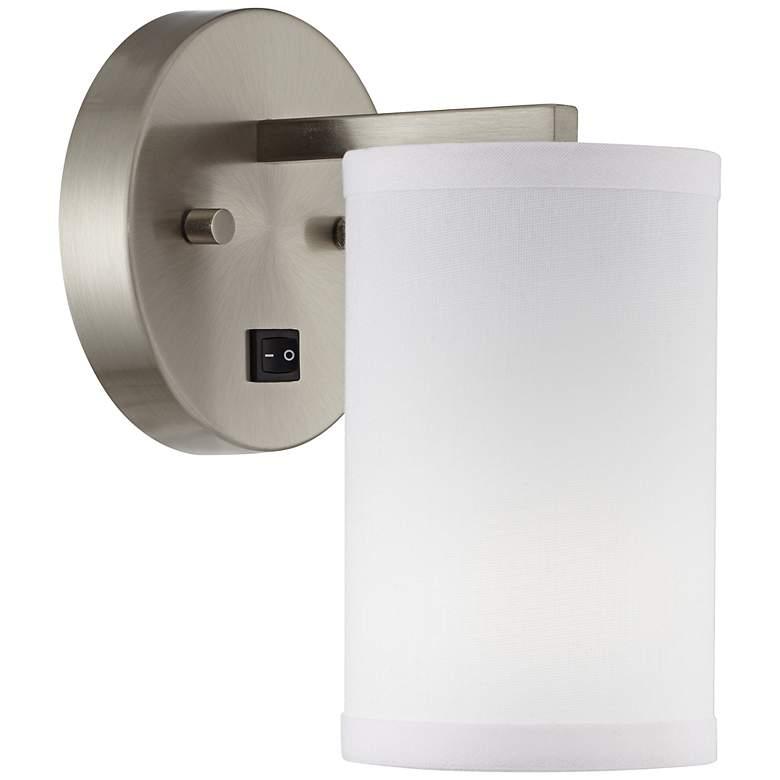 1V630 - Brushed Nickel Round Base Wall Lamp