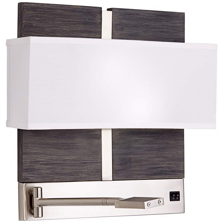 1V648 - Wall Mounted Nightstand Lamp With Reading Light