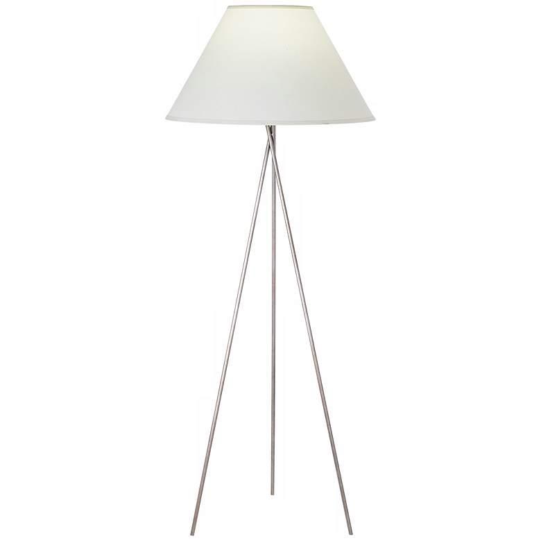 1V729 - Copped Bronze Metal Tripod Floor Lamp