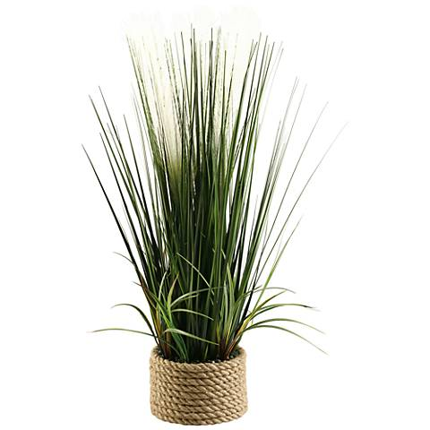 "Mixed Grasses 30"" High in Ceramic Planter"