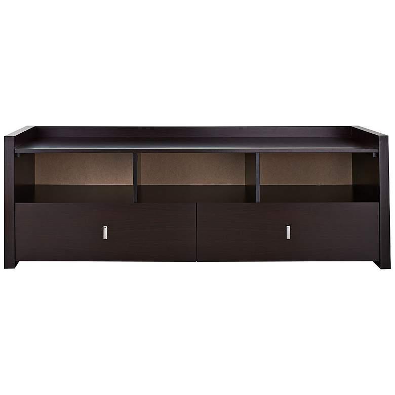"Morgana 60"" Wide Espresso Wood 2-Drawer TV Stand"