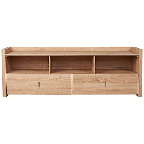 Morgana Weathered Sand Wood 2-Drawer TV Stand