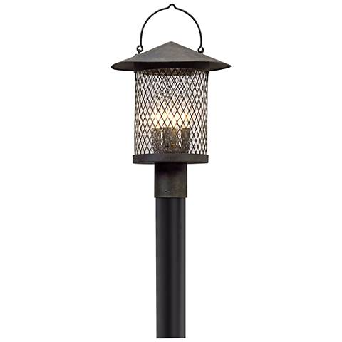 """Altamont 19 1/2"""" High French Iron Outdoor Post Light"""