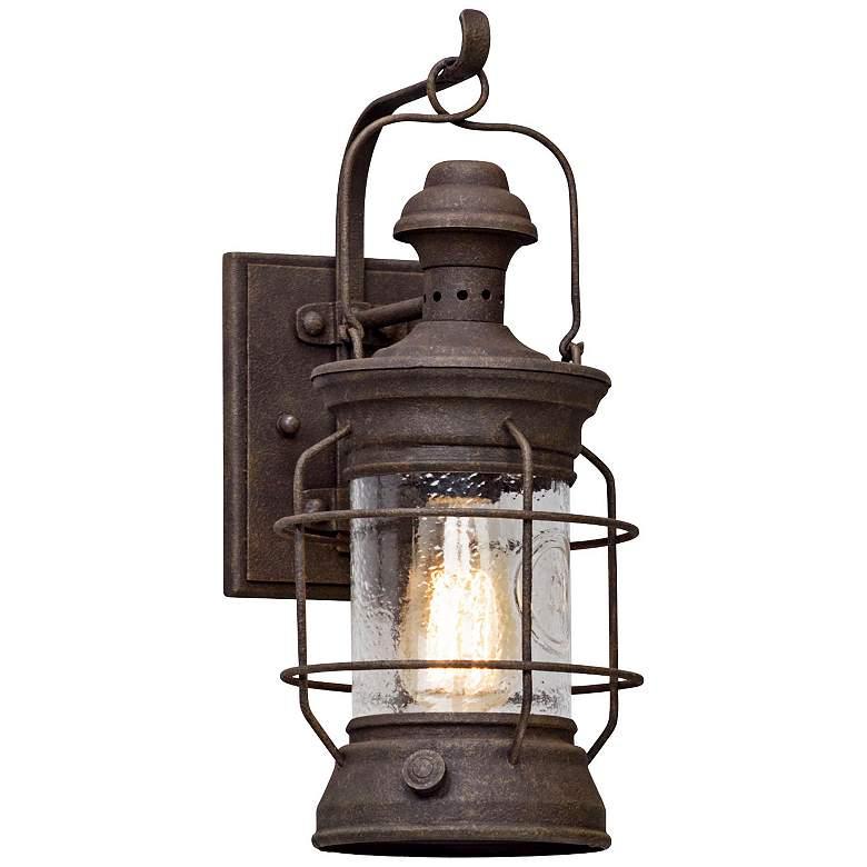 """Atkins 15 1/2"""" High Centennial Rust Outdoor Wall Light"""