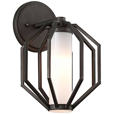 "Boundary 12 1/2""H Textured Graphite LED Outdoor Wall Light"