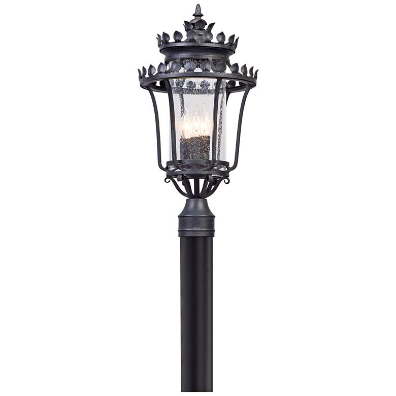 """Greystone 21 3/4"""" High Forged Iron Outdoor Post"""