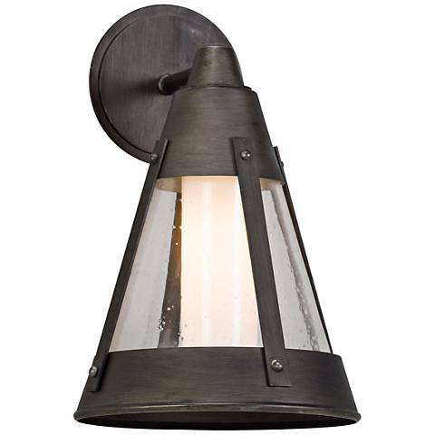 "North Bay 15 1/2"" High Graphite LED Outdoor Wall Light"