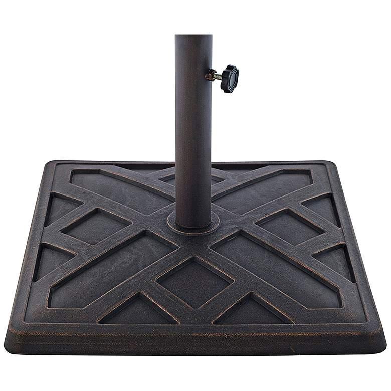 Kendra 20 Lb. Antique Bronze Square Umbrella Base