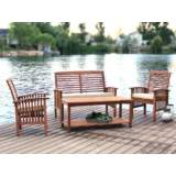 Kevin Brown 4-Piece Patio Conversation Set with Cushions