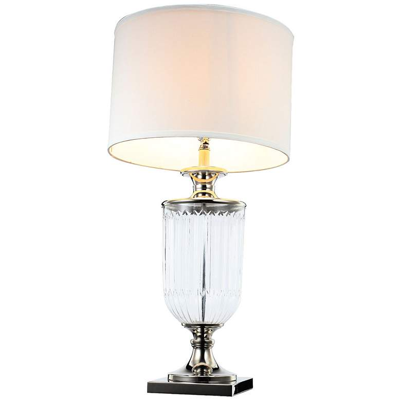 Mosby Ribbed Glass Urn Table Lamp