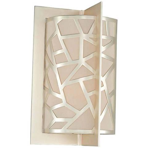 "Miramar 14"" High Rose Silver 2-Light Wall Sconce"