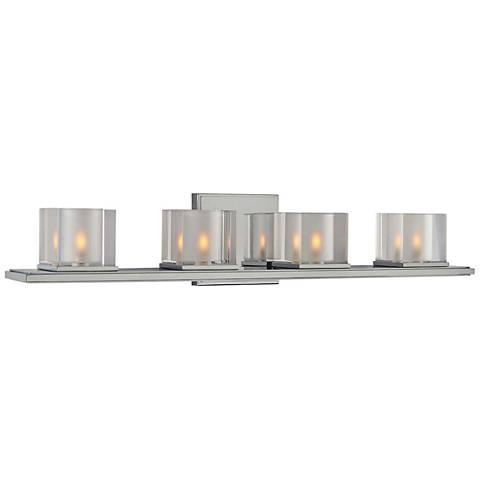 "Naples 26 1/2"" Wide Chrome 4-Light Bath Light"