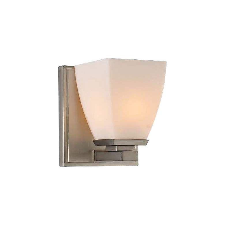 "Huntington 5"" Wide Satin Nickel 1-Light Wall Sconce"