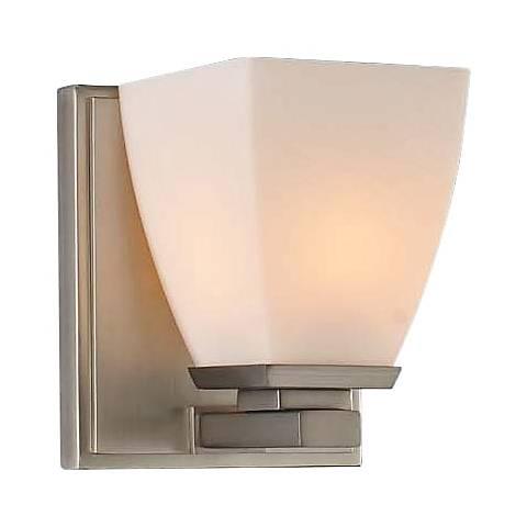 "Huntington 5"" Wide Satin Nickel 1-Light Wall Sconce"
