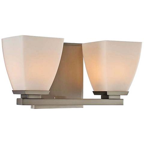 "Huntington 11"" Wide Satin Nickel 2-Light Bath Light"