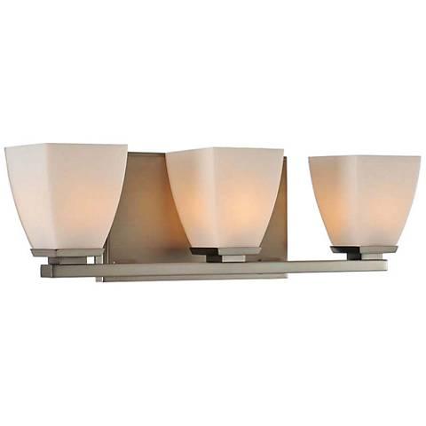 "Huntington 18 1/2"" Wide Satin Nickel 3-Light Bath Light"