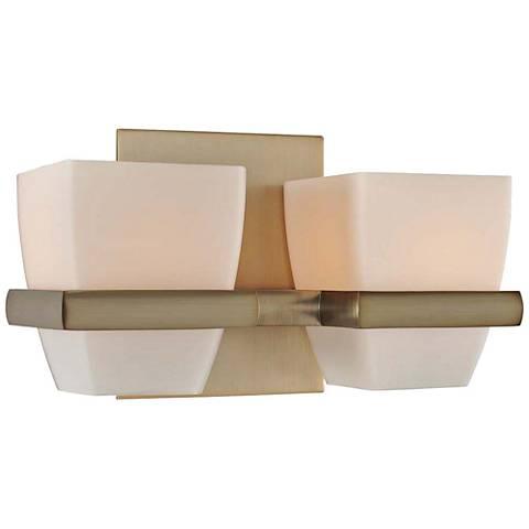 "Malibu 10"" Wide Brushed Bronze 2-Light Bath Light"