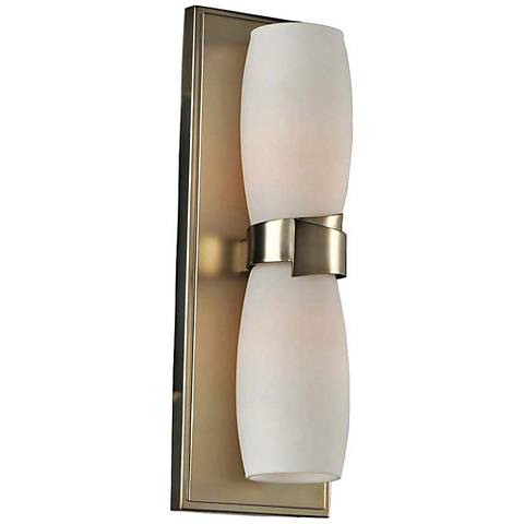 "Laguna 13 1/2"" High Satin Gold 2-Light Wall Sconce"