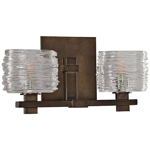 "Clearwater 13 1/2"" Wide Vintage Bronze 2-Light Bath Light"