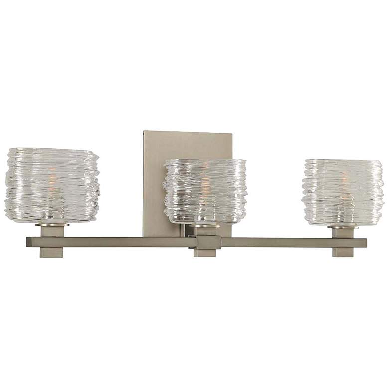 "Clearwater 21"" Wide Satin Nickel 3-Light Bath Light"