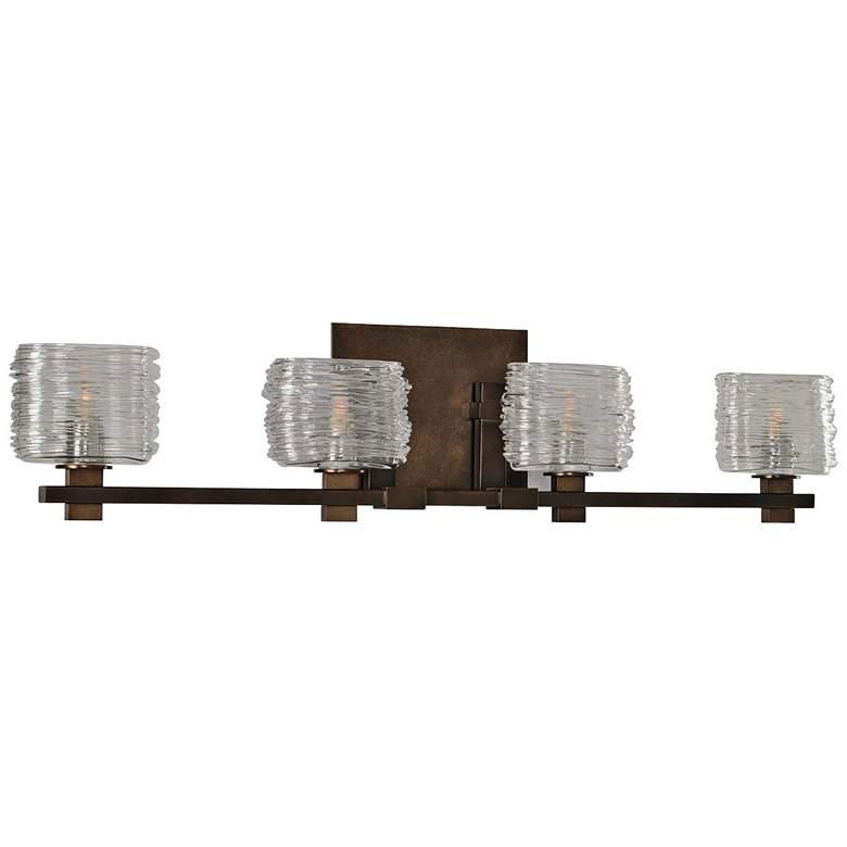 "Clearwater 29"" Wide Vintage Bronze 4-Light Bath Light"