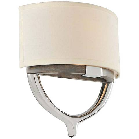 "Bombay 12 1/2"" High Chrome 2-Light Wall Sconce"