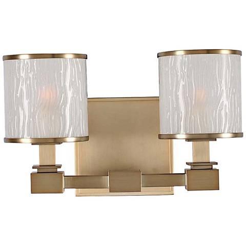 "Destin 11 1/2"" Wide Brushed Bronze 2-Light Bath Light"