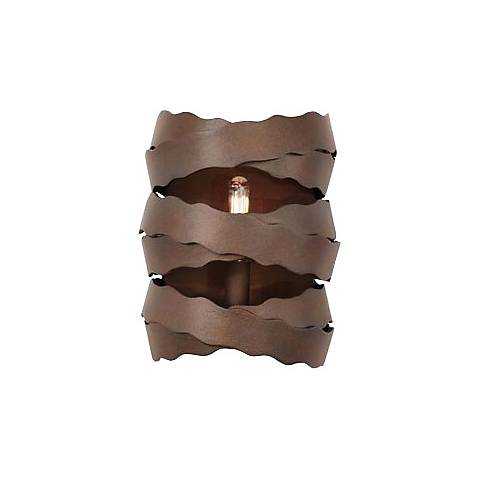 "Fulton 9"" High Brownstone 1-Light Wall Sconce"