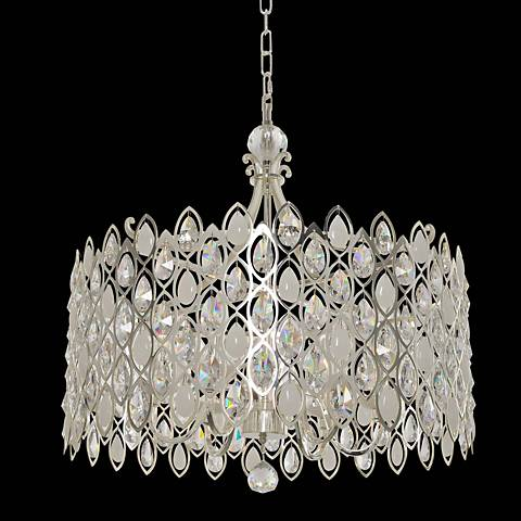 "Prive 26"" Wide Polished Chrome Pendant Light"