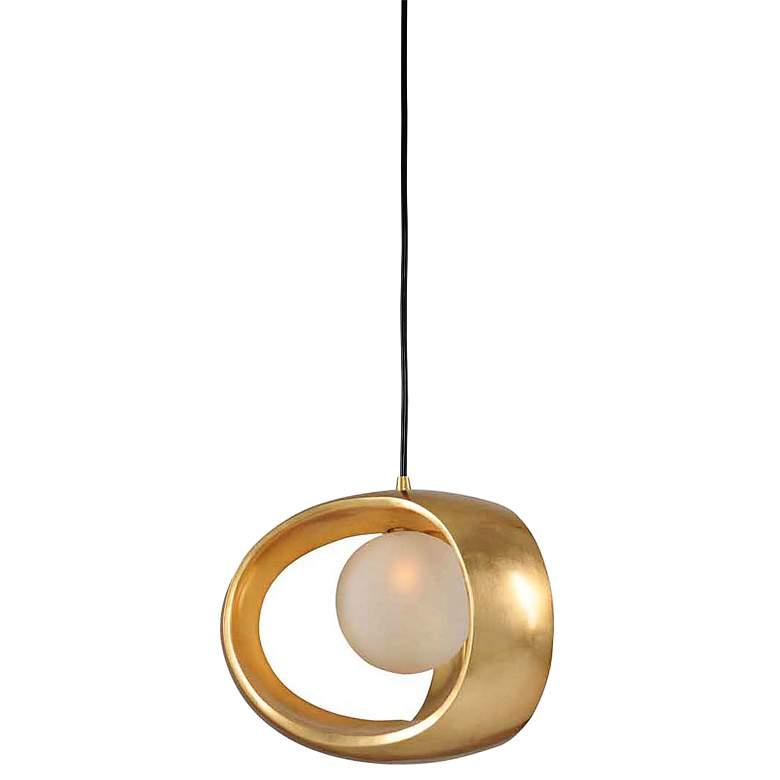 """Calistoga 12"""" Wide Gold Leaf Mini Pendant"""