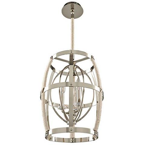 "Bradbury 15"" Wide Polished Nickel Pendant Light"