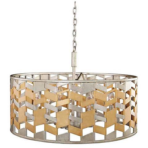"Broadway 26"" Wide Jewel Metallic Pendant Light"