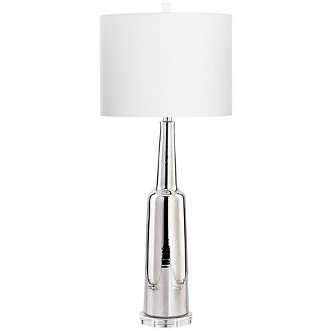 Hedley Nickel Glass Table Lamp