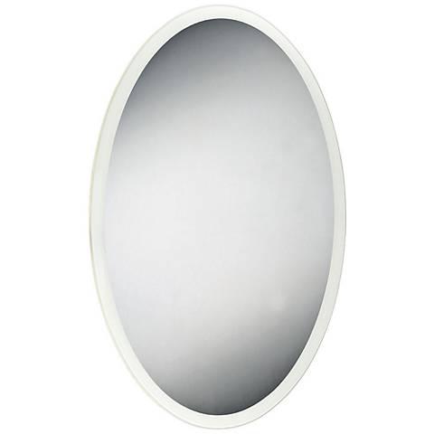 """Eurofase Edge-Lit 23 1/2"""" x 35 1/2"""" Oval LED Wall Mirror"""