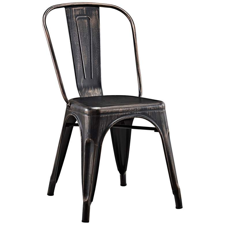 Glennon Antique Black Metal Cafe Chair