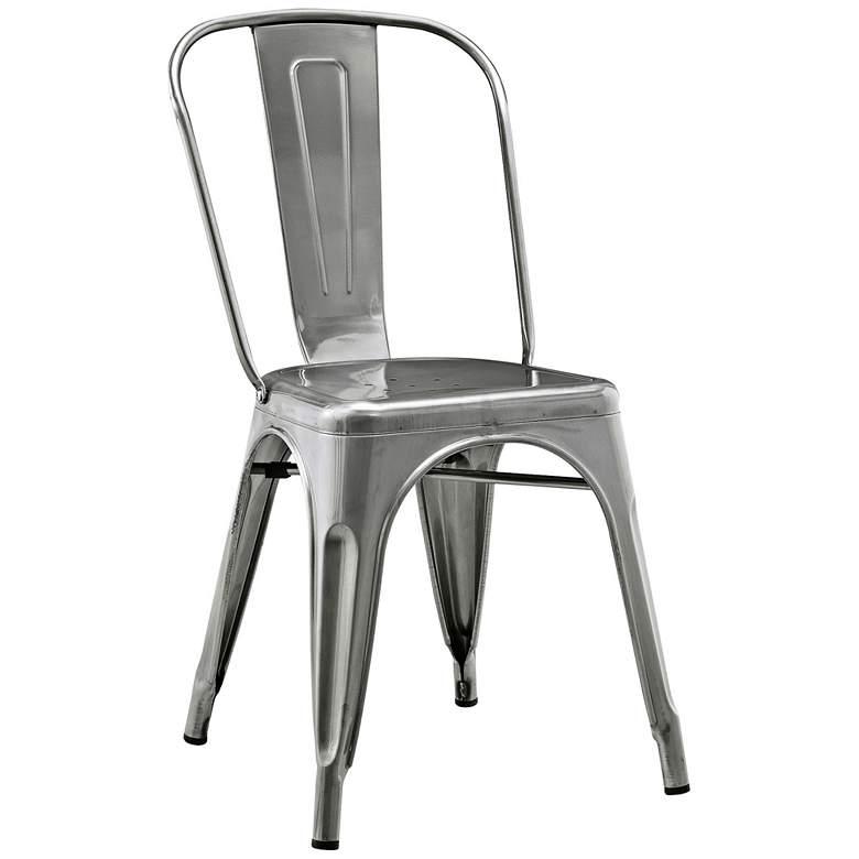 Glennon Silver Gun Metal Cafe Chair