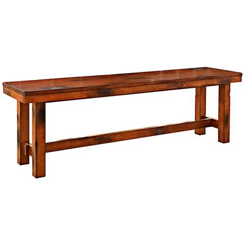Merrick Dark Oak Wood Bench
