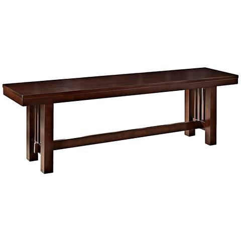 Cask Mission Style Cappuccino Wood Bench