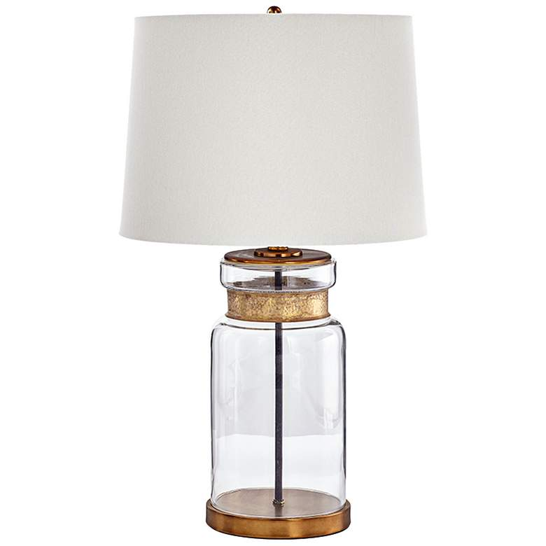 Bonita Gold and Clear Glass Table Lamp