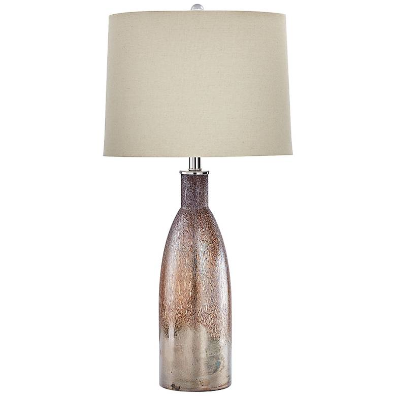 Bernadine Brown Glass Table Lamp