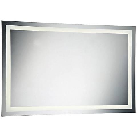"Eurofase Back-Lit 55"" x 35 1/2"" Large LED Wall Mirror"