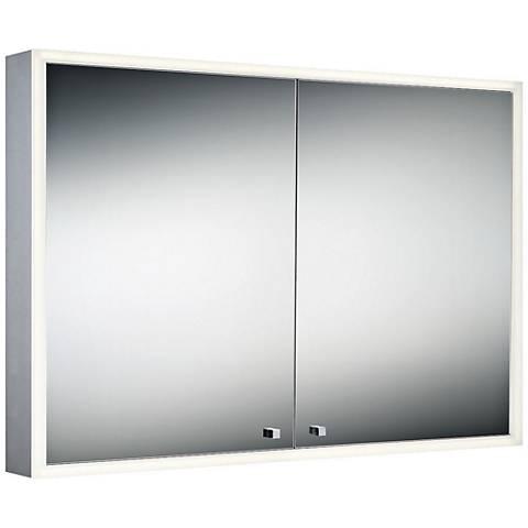"Eurofase Edge-Lit Double Door 39 1/4"" x 27 1/2"" LED Mirror"