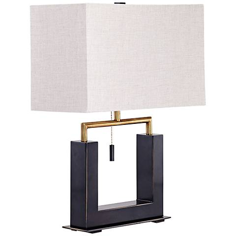 Aspro Polished Brass Table Lamp