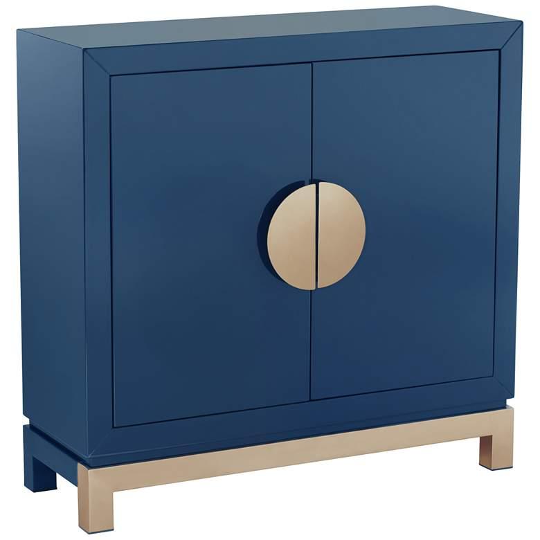 Walden Glossy Blue 2-Door Accent Cabinet