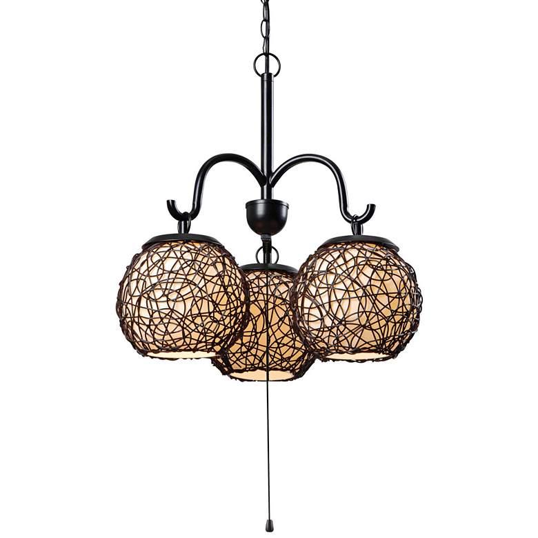 "Kenroy Home Castillo 17"" Wide Bronze Outdoor Pendant Light"