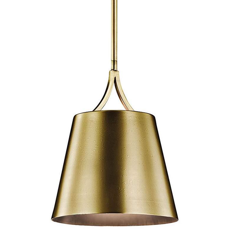 "Kichler Maclain 10"" Wide Natural Brass Mini Pendant"
