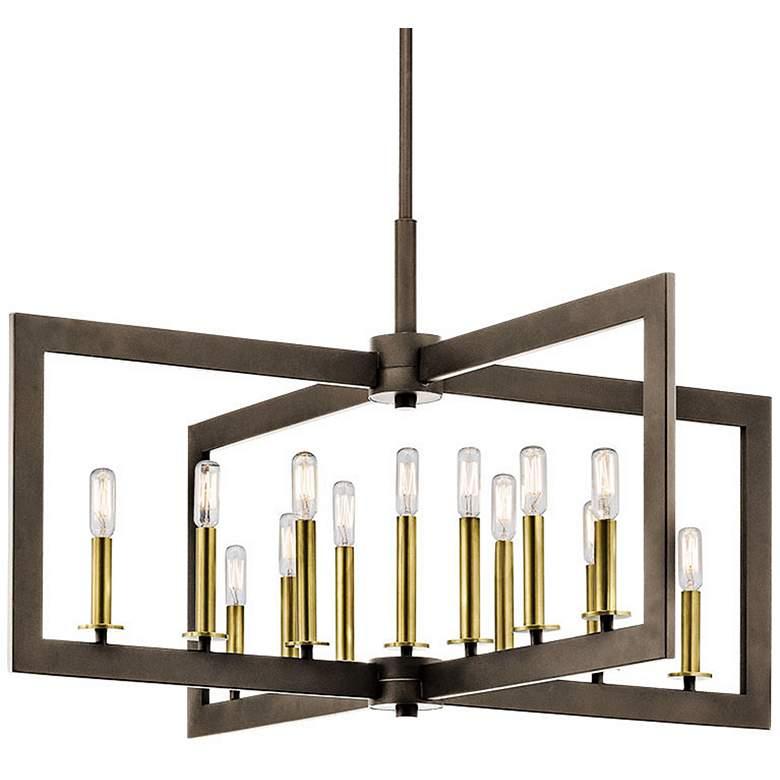 """Kichler Cullen 38 3/4""""W Bronze 13-Light Linear Chandelier"""